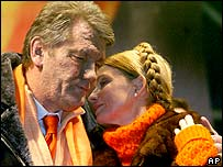 Viktor Yushchenko and Yulia Tymoshenko