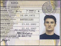 One of the fake passports used by Nicolae Cretanu