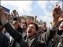 An anti-Israel rally in Tehran, Iran