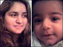 Shazia Imam and son Hassan Mahmood