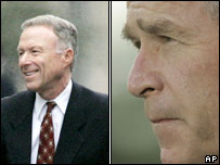 Lewis Libby (L) and President Bush