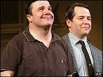 Nathan Lane and Matthew Broderick in The Odd Couple