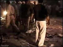 One of the blast scenes (Indian TV)