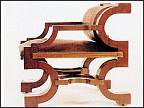Cubist chair designed by Josef Gocar (Collection of Museum of Decorative Arts in Prague)