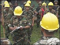 Ejército nicaragüense.