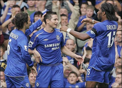 Frank Lampard scores Chelsea's second goal