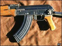 An AK47 assault rifle was recovered