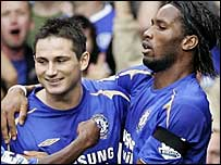 Frank Lampard (left) and Didier Drogba