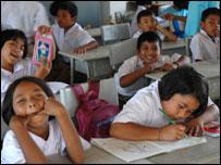 Children at Baan Nam Khem school