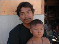Thoon Navarak and his son Anasorn