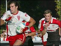 Biarritz's winger Jean-Baptiste Gobelet scored against Ulster