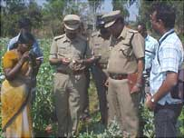 Raid on Indian poppy farm