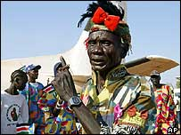 Man in southern Sudan