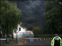 Fire at Southampton University