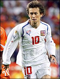 Czech Republic midfielder Tomas Rosicky