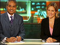 George Alagiah and Sophie Raworth