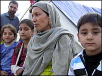 Kashmir refugee Jan Mohammed and family