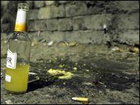 Alcopop on the street