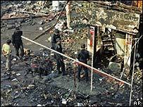 Mercado en donde ocurrió una de las explosiones.