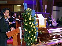 Condoleezza Rice at the memorial