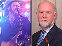 Lemmy (L) and William Graham AM