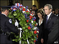Presidente George Bush y Laura Bush