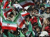 Iranian football fans