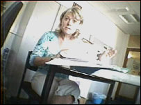 Jennifer Toynbee-Holmes in a secretly-filmed marking meeting