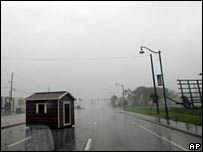 Lluvia en las afueras de la ciudad de Naples, Florida.