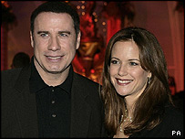 John Travolta with his wife, Kelly Preston