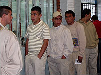 Inmates at the North Preventive Jail in Mexico City