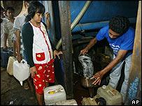 petrol queue in Indonesia