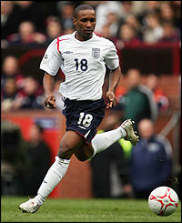 England substitute Jermain Defoe