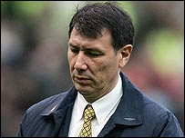 Lawrie Sanchez saw his side lose 4-0 at Old Trafford