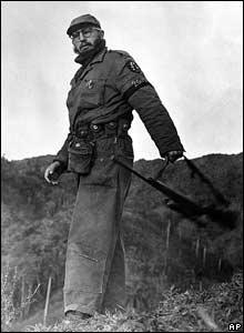 Fidel Castro en las monta�as de la Sierra Maestra.