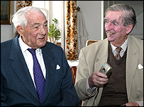 Lord Callaghan with Lord Healey