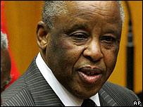 Botswana's president Festus Mogae