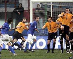 Andrea Pirlo scores