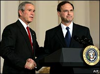 President George Bush and Samuel Alito