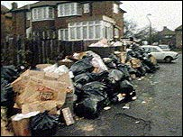 "Rubbish piles up during the ""winter of discontent"""