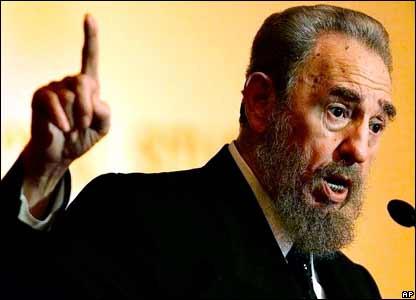 Фидель Кастро во время одного из выступлений