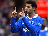 Birmingham's on-loan Arsenal winger Jermaine Pennant