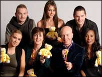 Liberty X met Children in Need presenters Donna Traynor and John Daly