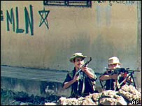Rebel fighters in El Salvador
