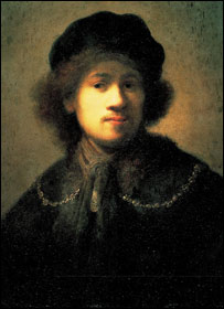 Rembrandt, Self Portrait As A Young Man, courtesy of National Museums Liverpool