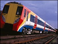 Train operated by South West Trains