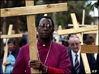 Archbishop Pius Ncube in a Good Friday procession