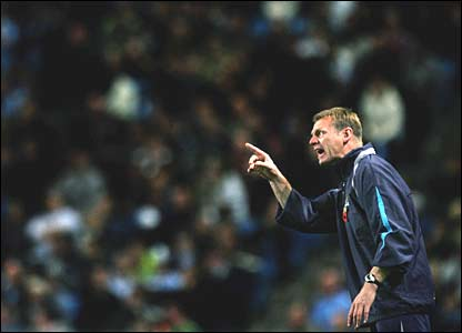 Manchester City boss Stuart Pearce