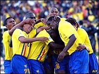 Ecuador celebra un gol.