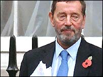 David Blunkett outside his London office